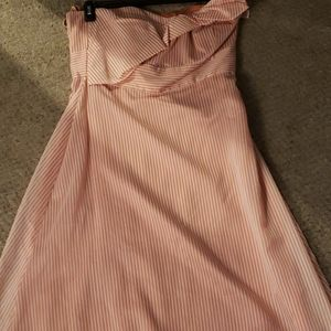 New strapless striped dress
